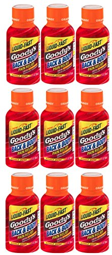 Goody's Back and Body Relief Shot, Orange Flavor, 9 Count