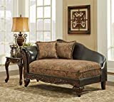 Chelsea Home Furniture Arlene Chaise, Silas Raisin/Bi-Cast Brown