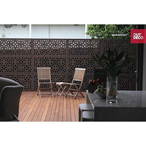 5/16 in. x 48 in. x 24 in. Marakesh Modular Hardwood Composite Decorative Fence Panel (Aluminum Modular Panel)