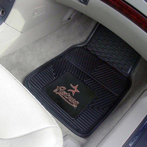 MLB Houston Astros Black 2-Piece Vinyl Car Mat Set [Misc.]