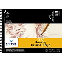 Canson Artist Series 1557 Cream Drawing Paper Pad for Pen, Ink and Graphite Pencil, Top Wire Bound, 90 Pound, 18 x 24 Inch, Cream, 24 Sheets