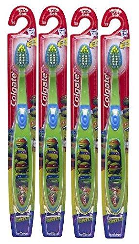 Colgate Kids Toothbrush, Ninja Turtles (4 Pack, Green)