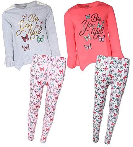 My Destiny Girls 4-Piece Fashion Top Legging Pant Set, Be Youtiful, Size 3T'