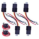 HUAHA 5pcs 30/40A AMP Automotive Relay Harness Spdt 12V with 2pcs ATC 16-Gauge In-Line Fuse Holder