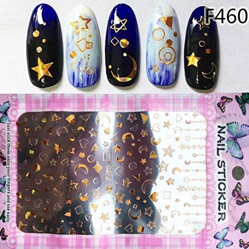 Nail Water Decals stickers deco Blossom Nail stickers Korean Styles sheet Adhesive-self sticker,Cute stickers (F460)