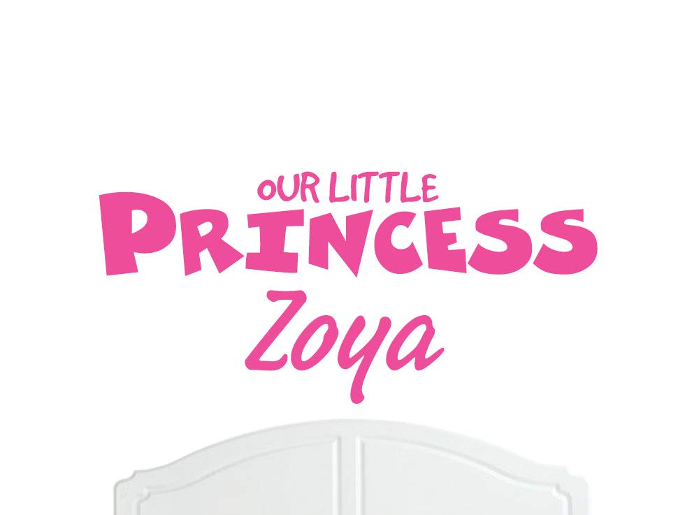 Our Little Princess Zoya Large Wall Sticker/Vinyl Bed Room/Nursery Girl/Baby - Choice of Colour by Quality Goods Ltd