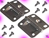 Coleman Cooler Stainless Steel Hinges Cooler Part Hinge & Screw Set
