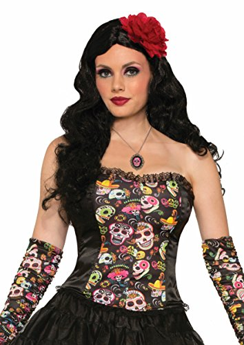 Forum Women's Day Of The Dead Corset, Multi, One Size
