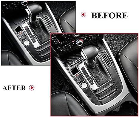 Style E Carbon Fiber Center Console Gear Shift Box Cover Trim for Audi A5 S5 2008-2016