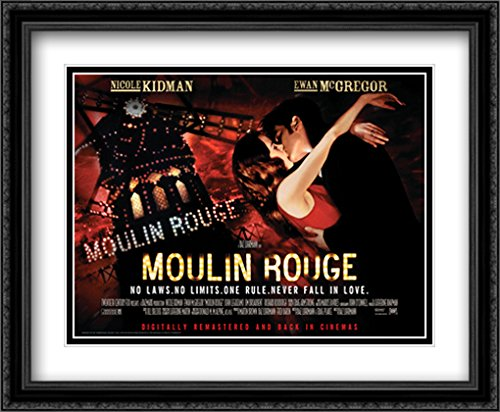 Moulin Rouge 34x28 Double Matted Large Black Ornate Framed Movie Poster Art Print ()