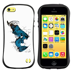 LASTONE PHONE CASE / Suave Silicona Caso Carcasa de Caucho Funda para Apple Iphone 5C / Teal Abstract Peacock Bird White