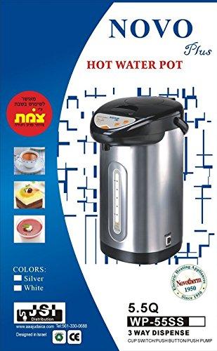 Novo Plus Hot Water Pot 3 Way Dispense 5.5 Quarts (Sliver)