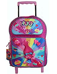 NEW Disney 3D Trolls Large Rolling backpack