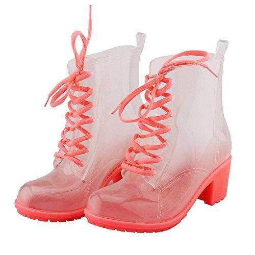 deslizante lluvia de botas Moda Martin pink anti OqxaHEwU