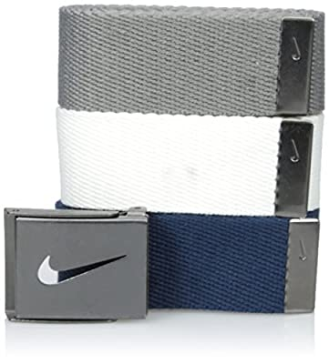Nike Men's 3 Pack Web Belt