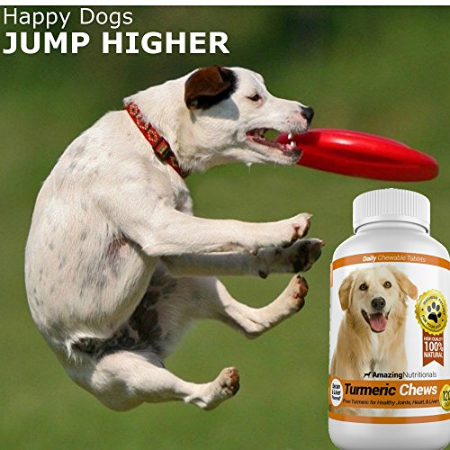 Amazing Turmeric for Dogs Curcumin Pet Antioxidant, Eliminates Joint Pain Inflammation, 120 Chews