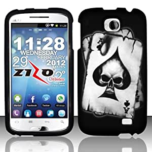 Rubberized Plastic Spade Skull Hard Cover Snap On Case For BLU Studio II 5.3 D550a + Free Screen Protector (Accessorys4Less)