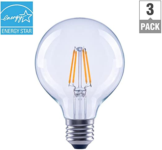 15,000 Hours, 2700K, 5.6W, Energy Star, E26 4-Pack EcoSmart LED A19 Dimmable 40W Replacement in Soft White