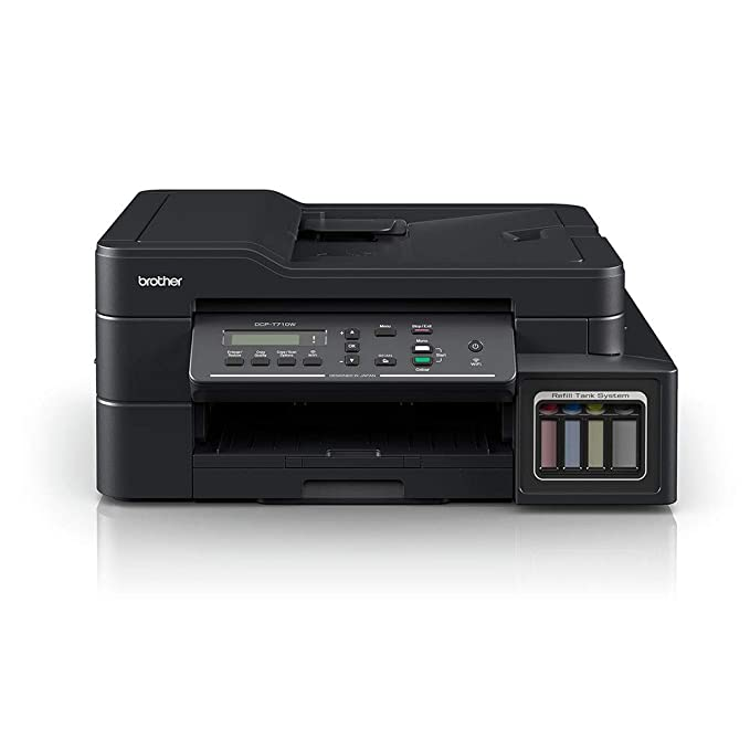 Brother DCP T710W Inktank Refill System Printer with Wi Fi and Automatic Document Feeder Printing Ink Tank Printers