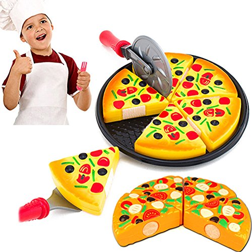bjduck99 Child Kitchen Simulation Pizza Party Fast Food Slices Cutting Play Food Toy