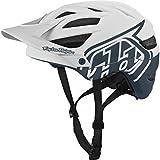 Troy Lee Designs Drone Adult A1 Bike Sports BMX Helmet - White/Gray