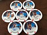 2014 Topps Chipz Los Angeles Dodgers Team Set 7 Poker Chips Kemp Kershaw