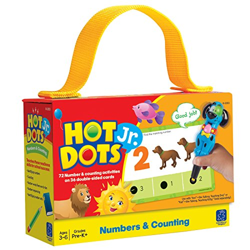 Educational Insights 2353 Hot Dots Jr. Numbers and Counting Card Set - Reading First Classroom Kit
