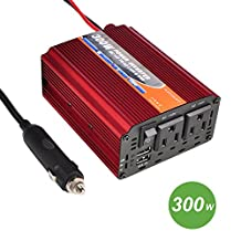 AZGIANT Dual 110V AC Outlets 300W Power Inverter