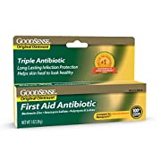 GoodSense First Aid Triple Antibiotic Ointment, Treats Minor Cuts, Scrapes and Burns, 1 Ounce