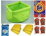 CampMaster Inflatable Sink Pak 4 Tide Single Load Laundry Packs, Bathe & Laundry