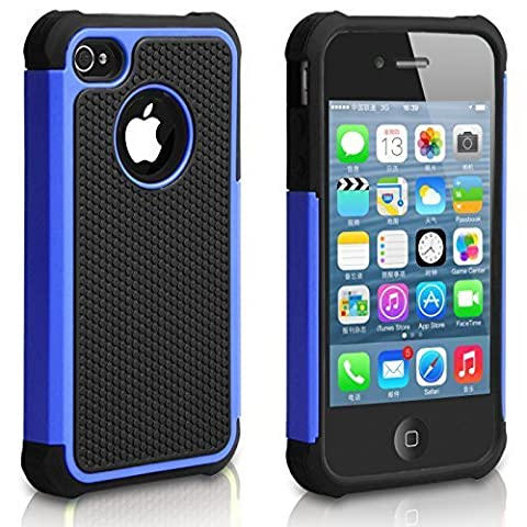 Pasonomi Shockproof Bumper Armor Cover for Apple iPhone 4S/4
