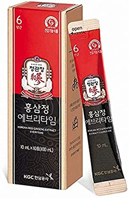 KGC Korean Red Ginseng Extract, Single Serving Packs for Healthy Immune Support - 30 Sticks