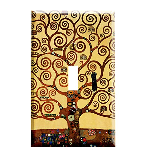 Gustav Klimt The Tree of Life Switchplate - Art Nouveau Switch Plate Cover - 1 toggle