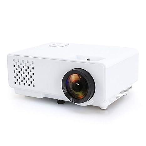 Mini proyector LED 800 * 768 1200 lúmenes de Cine en casa HD con ...