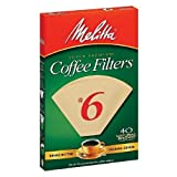 melitta no 6 filters - Melitta Natural Brown, Cone Filters #6 40 ea (Pack of 3) by Melitta