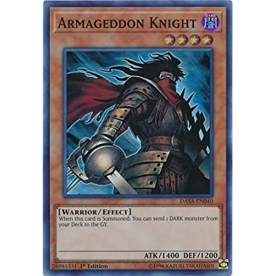 Armageddon Knight - DASA-EN040 - Super Rare - 1st Edition: Toys & Games