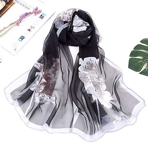 Inverno Stampato Vintage Scialle Elegante Boho Autunno Lungo Aimee7 Sciarpa Donna Nero Choker xOwqBFFv