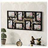 DDJ Frames FAMILY & LOVE Title Collage Picture Frame with 8 Openings for 6Inch Photos , Black