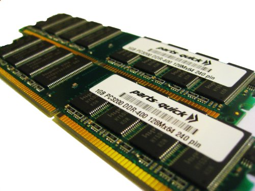 (2GB 2 X 1GB PC3200 400MHz 184 pin DDR SDRAM Non-ECC DIMM Desktop Memory for Dell Optiplex SX270 (PARTS-QUICK BRAND))