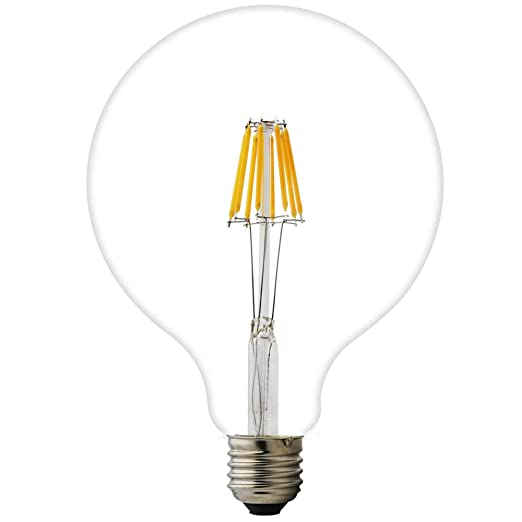 1 x 8 W G125 E27 LED bombilla de globo ac 220 V 2200 K Blanco