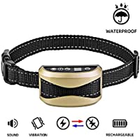 A+ TRAINERROOPZ Dog Bark Collar Anti Bark Collar with 7 Sensitivity, USB Rechargeable Waterproof Dog Bark Collar with Vibration and Beep for Small Medium Large Dogs