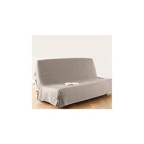 Funda de sofá cama clic-clac - 100% algodón - Color LINO