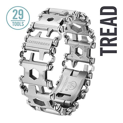 Leatherman - Tread Bracelet, The Original Travel Friendly Wearable Multitool, Stainless Steel (FFP) ()