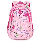 Eshops Backpacks for Girls School Bags for College Waterproof Outdoor Travel Backpack for Women (Pink)
