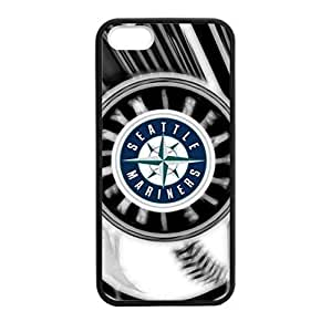 Baseball Seattle Mariners Team Design Background for iPhone 5/5s TPU Case (Laser Technology)-by Allthingsbasketball
