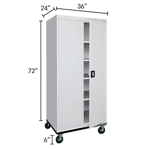 Sandusky Lee Transport Series Mobile Storage Cabinet, Dove Gray