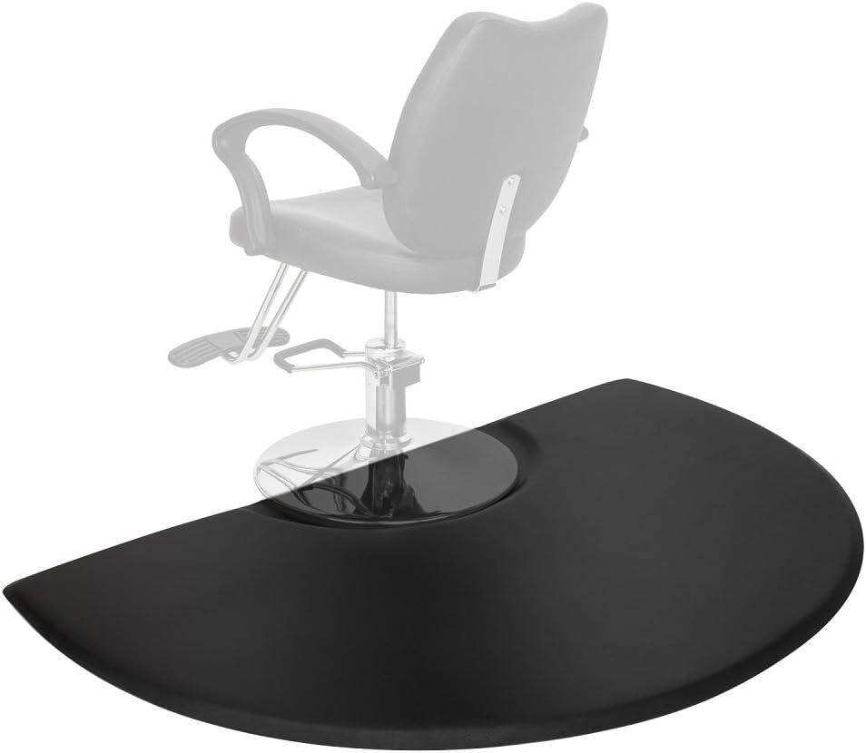 Mefeir 3' x 5' - 7/8'' Thick Salon Anti Fatigue Mat for Hair Stylist, Semi Circle Comfort Barber Shop Beauty Spa Floor Mats Under Styling Chair