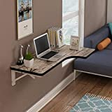 WLDD Wall-Mounted Folding Table Dining Table Drop Leaf Computer Desk Note Desk ( Color : D , Size : 120*60*40cm )