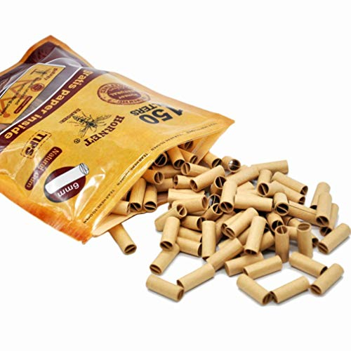❤JPJ(TM)❤️_Home decoration 150Pcs New Creative Hornet Per Rolled Tips Natural Prerolled For Cigarette Rolling Paper 6MM (Brown)