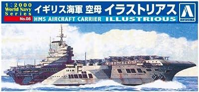 Aoshima 1/2000 World Series No.08 Navy Royal Navy Aircraft Carrier Illustrations Rias Aoshima